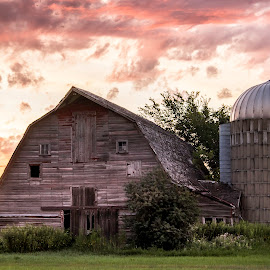 MORNING ON THE FARM by Dana Johnson - Buildings & Architecture Other Exteriors ( sunrise, barn, rural, farm, building, architecture, morning )