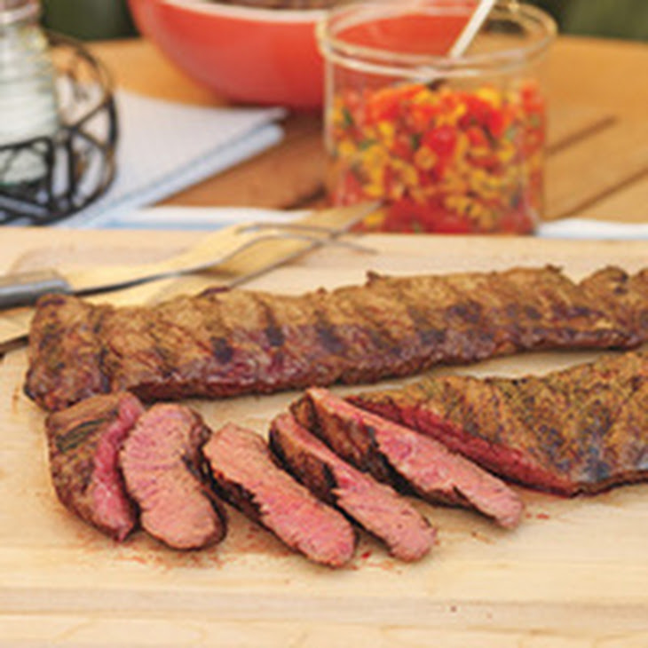 Grilled Flank Steak With Black Beans Corn And Tomatoes ...