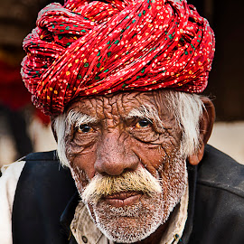 Strokes of Life by Shubhank Rishi - People Portraits of Men ( camelfair, pushkar, rajasthan, turban, scars, oldman, india, travel, portrait, culture, street photography )