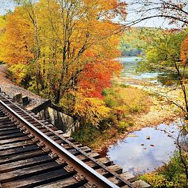 Frenchville by Travis Houston - Transportation Railway Tracks