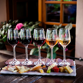 Wine & Cheese by Dmitriev Dmitry - Food & Drink Alcohol & Drinks ( wine, food, wine glass, food photography, cheese )