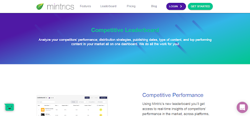 competitive leaderboard landing page header