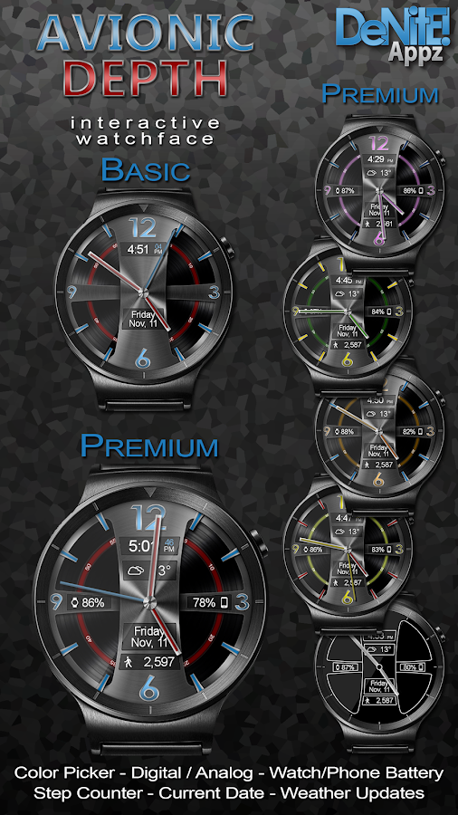 Avionic Depth HD Watch Face Screenshot 0