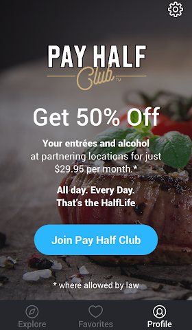 android Pay Half Club Screenshot 1