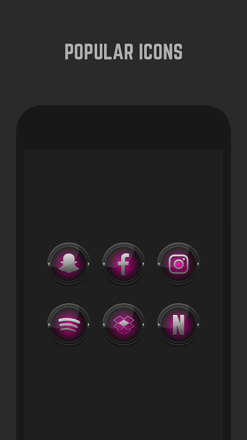 Black and Pink Icon Pack Screenshot 3
