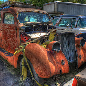'40 Dodge awaits it's future... by Bruce Martin - Transportation Automobiles (  )