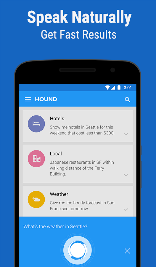 HOUND Voice Search & Assistant Screenshot 0