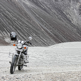 A guy's first love by Mangesh Jadhav - Transportation Motorcycles ( bike, royal, enfield, ladakh )