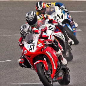 Three in a Row by Steve Hatton - Sports & Fitness Motorsports ( motor sports, racing, super bikes, motorcycles. )
