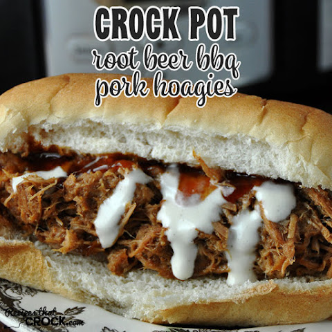 Crock Pot Root Beer BBQ Pork Hoagies