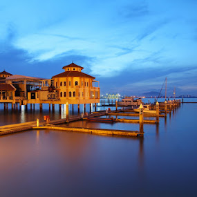 Dawn   QEII Penang by Danny Tan - Landscapes Waterscapes