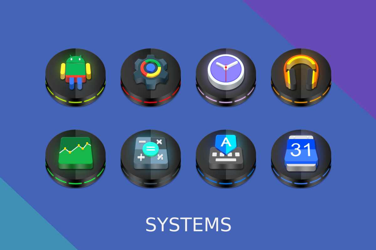 Neon 3D icon Pack Screenshot 10