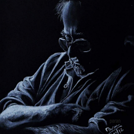 Silent by Paran Goswami - Drawing All Drawing ( art, pencils, drawing, black and white, portrait, people )