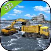 Heavy Excavator - Flood Rescue APK for Ubuntu
