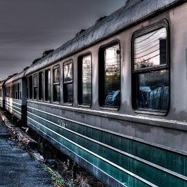 Ghost Train by Marc Parent - Transportation Trains ( railway, railroad, public transport, train, tracks, transportation )