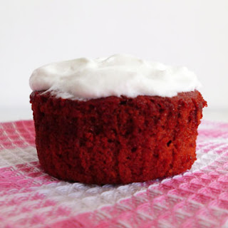 Red Velvet Cupcakes with Whipped Cream Frosting