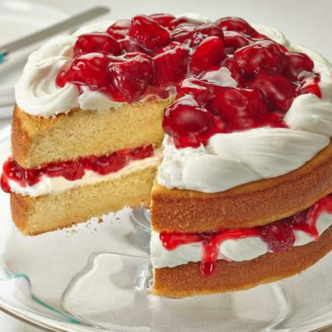 Sunshine Strawberry French Vanilla Cake