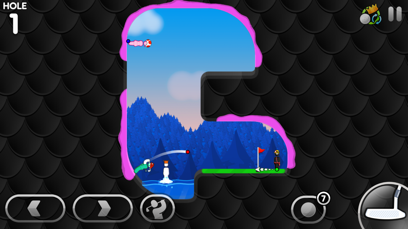 Super Stickman Golf 3 Screenshot 1