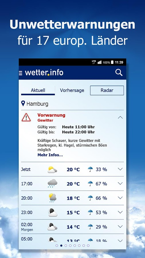 wetter.info Screenshot 1