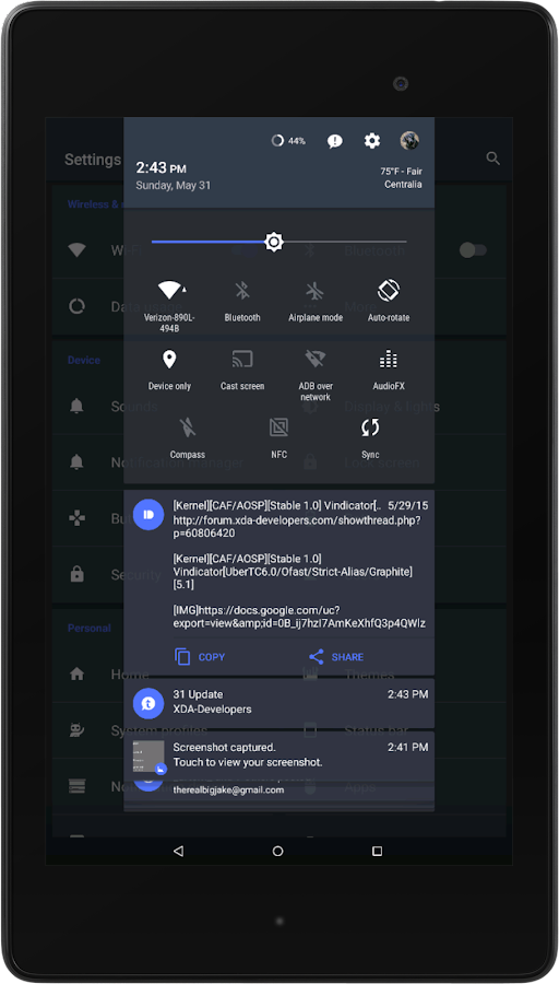 Slated MTRL - Blue CM13 Theme Screenshot 9