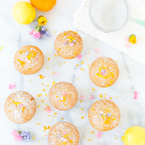 Lemon Orange Olive Oil Cupcakes