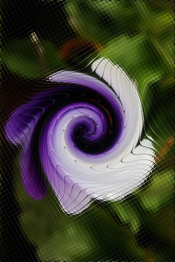 Pansy by Bozica Trnka - Abstract Patterns ( pattern, purple, abstract art, art, flower )