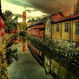 Old city by Marina Erkenius - Digital Art Places ( sweden, hdr, oldcity, lake, photo, river )