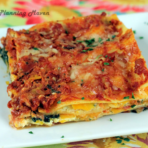 Roasted Butternut Squash 'n Spinach Lasagna