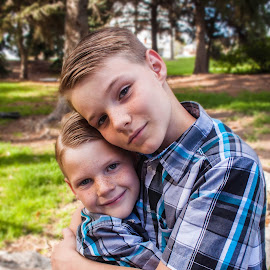 Brothers by Valerie Higgs - People Family
