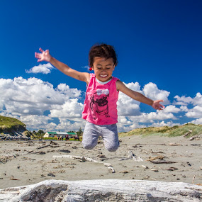 I believe I can fly! by Joseph Callaghan - Babies & Children Children Candids ( laugh, girl, summer, beach, fun, sun )