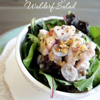 Leftover Turkey Pear Waldorf Salad