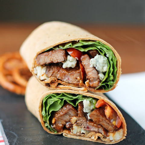 Black and Blue Steak Wraps