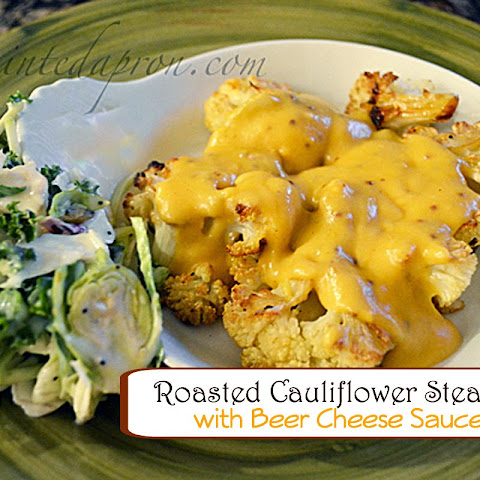 "Recipe Box, Cauliflower ""Steaks"" with Beer Cheese Sauce"