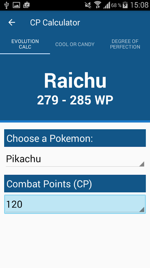 CP-Calculator Pro Pokemon Go Screenshot 0