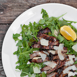Steak Salad with Arugula, Parmesan and Balsamic Shallot Glaze