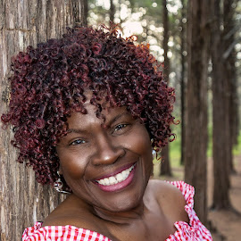 Beautiful Barbara by Kathy Suttles - People Portraits of Women ( outdoor kind of lady, mother nature, curly hair, african american, woman of color, mature woman, barbara, suttleimpressions )
