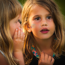 Don't Tell Anyone by Garry Dosa - Babies & Children Children Candids ( girls, person, secrets, summer, childlike, fun, people, , KidsOfSummer )