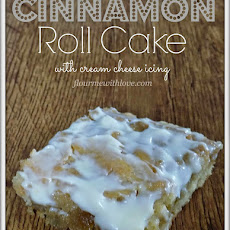 Cinnamon Roll Cake with Cream Cheese Icing