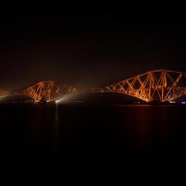 The Forth Rail Bridge by Graham Hill - Buildings & Architecture Bridges & Suspended Structures ( scotland, cantilever, rail bridge, long exposure, night, bridge, forth rail bridge, 100 years,  )