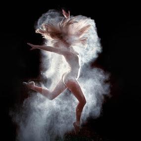 Katie's Grace by SumPics Photography - People Portraits of Women ( buy-canvas-art, buy-photo-on-canvas, blonde hair, silhouette, northwest arkansas, blog, float, spring, leotard, photography, sumpics.com, backlit, girl, woman, movement, photographer, motion, free spirit, hair, dancer, stop motion, creative, moving, photo-print, long hair, beautiful, bare flash, artphoto, women, photo, smoke, portrait, jump, smokey, buy-art-photos, flour, backlight, female, art-photography, dust, dance, strobe )