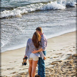 Ocean Side Romance 5 by Linda Tiepelman - People Couples ( a westin resort, honolulu, tourism, ocean, romance, love, vacation, woman, moana surfrider, couple, man, hawaii, spa )