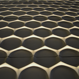 The Honeycomb Wall by Rob Kovacs - Abstract Patterns