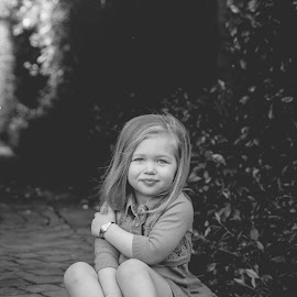 pose by May Evelene Bester - Babies & Children Child Portraits ( girl, black and white, child portrait, kids, twins )