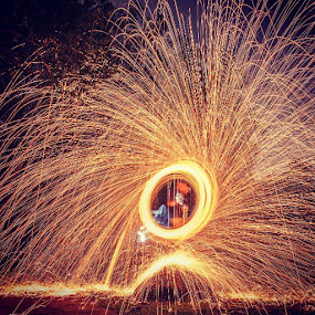 Spinner by Zakaria Sahli - Abstract Light Painting ( zakaria sahli, canon, spinner, photoday, light painting, zslightpainting, fireworks, fire, new year, dipawali, diwali, 2014 )
