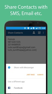 Share Contacts - screenshot