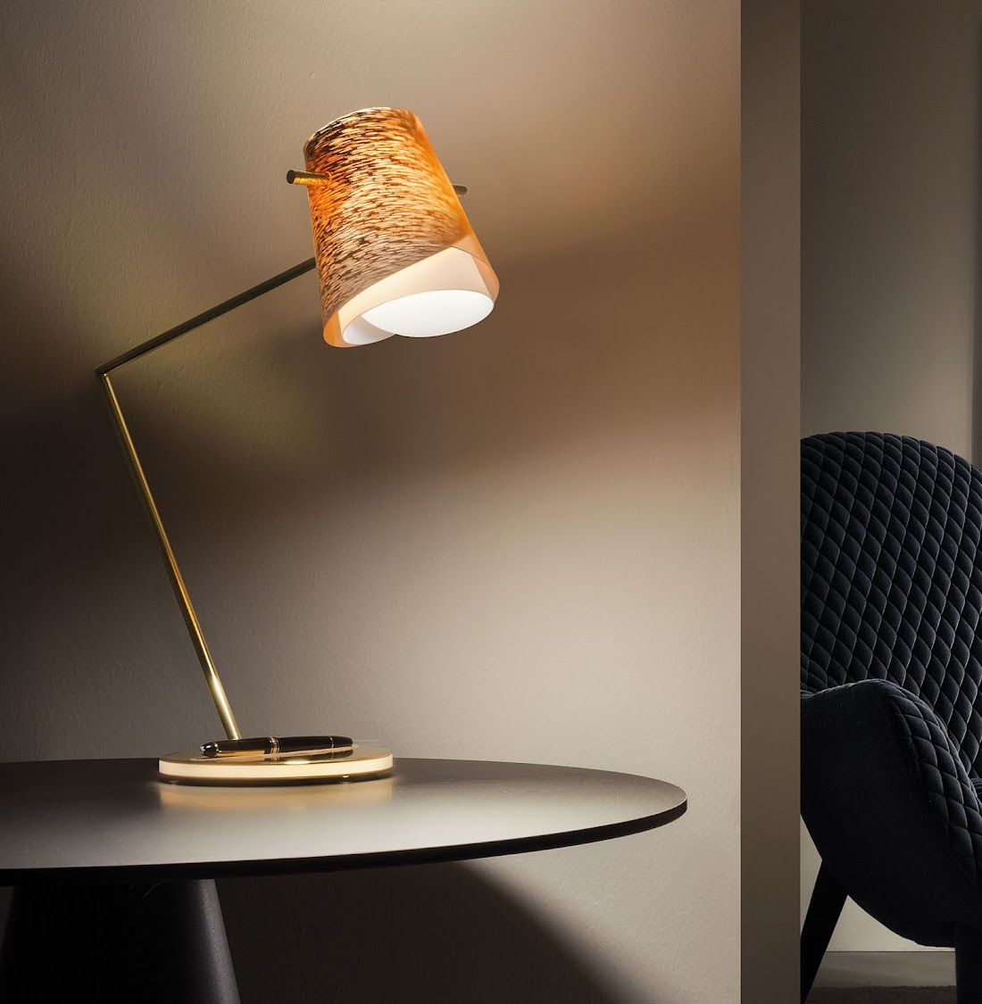 Slamp and Montblanc have collaborated to create the Overlay desk lamp