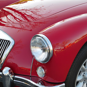Car show in Chester, VA. MG red by TONY LOPEZ - Transportation Automobiles ( metal, cars, virginia, usa, antiques, classics,  )