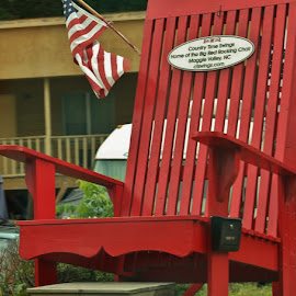 Oversized Red Chair by Terry Linton - Artistic Objects Furniture