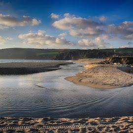Pentewan Sands by Nick Bonwick - Landscapes Beaches ( water, beaches, pentewan, seaside, cornwall )