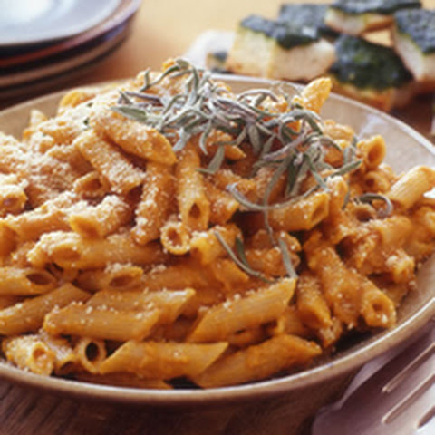 Penne with Pumpkin and Sage Sauce Recept | Yummly